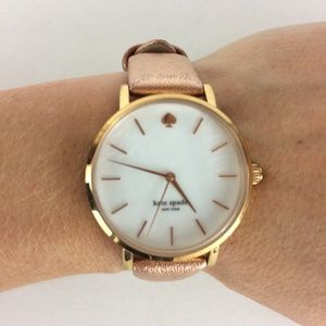Kate Spade Water Resistant Watch with Leather Band